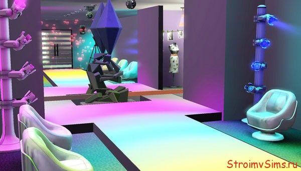 Зал для показа мод в стиле игр