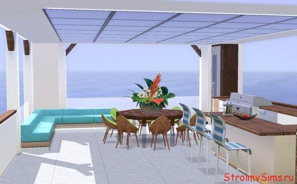Как построить в Симс 3 красивый балкон с навесом