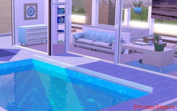 Бассейн рядом со спальней Симс 3
