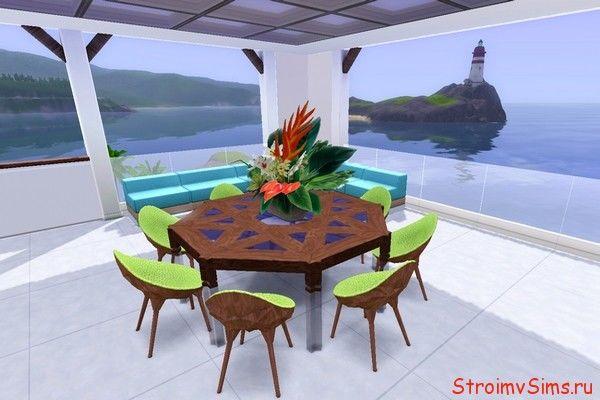 Самодельный столик Симс 3