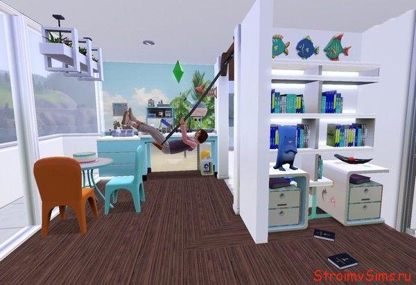Необычная детская комната в тропическом доме для Симс 3