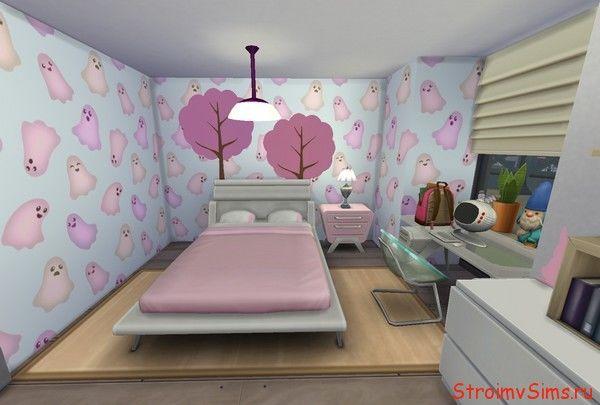 Готовая спальня The Sims 4