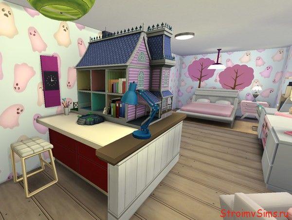 The Sims 4 готовая комната на скачку