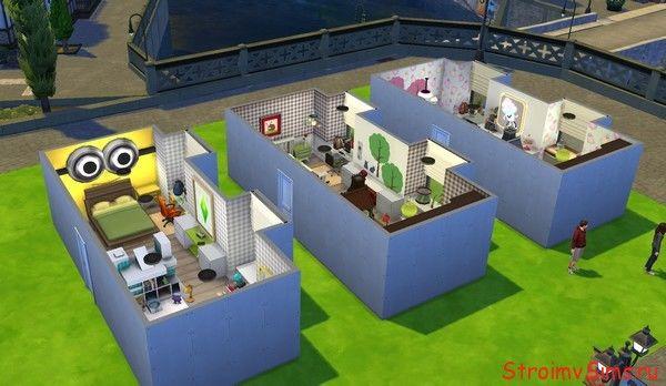 Скачать готовые комнаты в симс 4