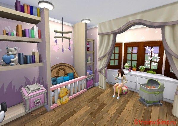 Симс 4 спальня родителей с кроваткой малыша