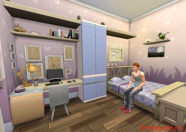 Симс 4 спальня симов