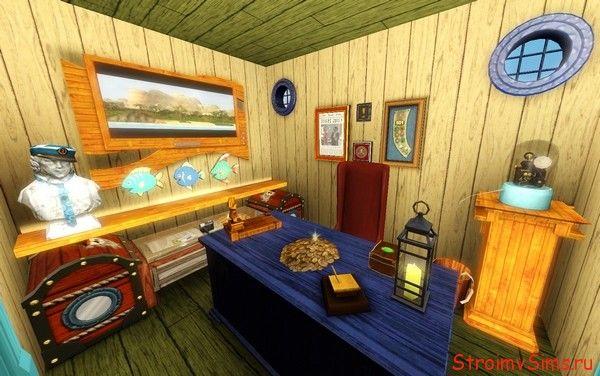 Симс 3 Красти Краб: кабинет мистера Крабса