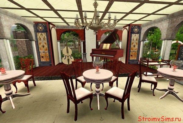 Фуршетные столы и бесплатная столовая в Симс 3