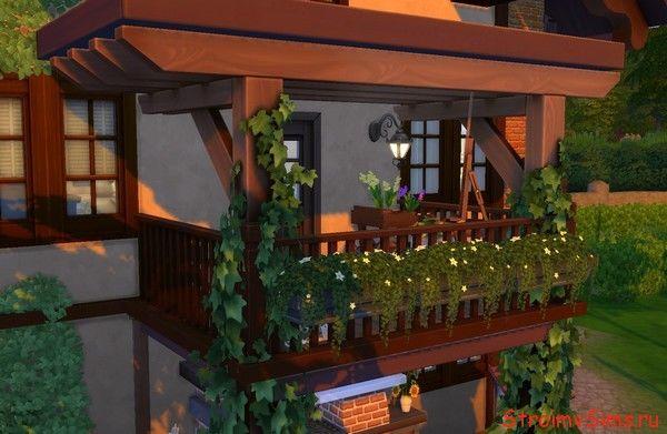 Как украсить балкон для симов