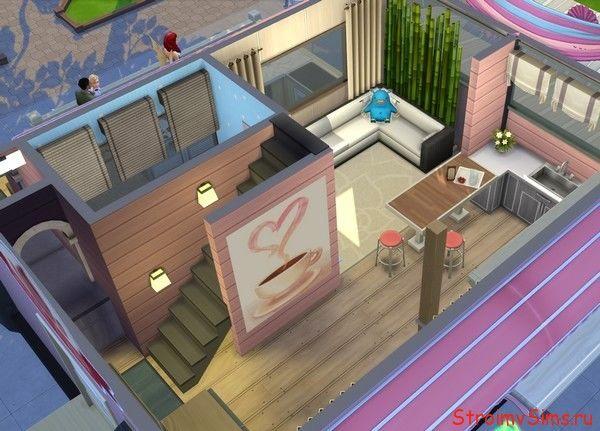 Расположение комнат в маленьком доме The Sims 4