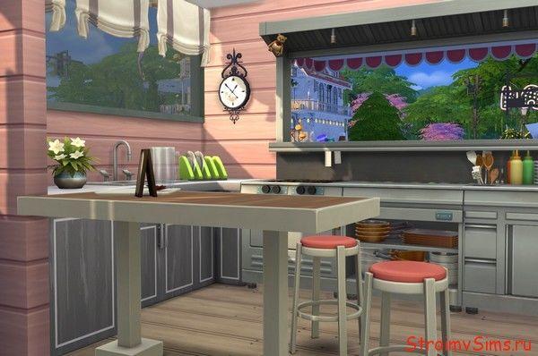 Кухня в доме на колёсах Симс 4