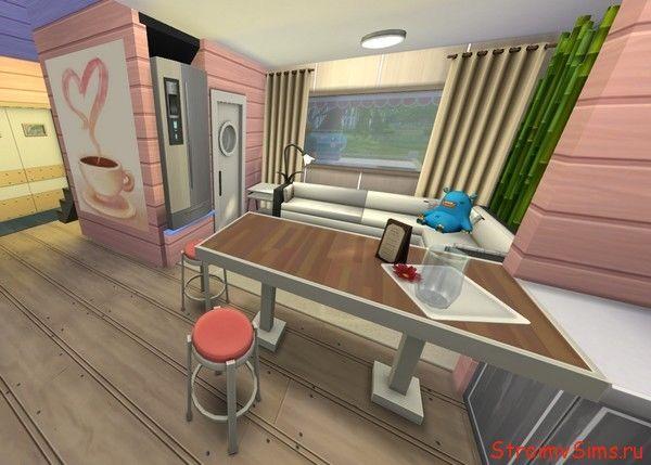 Гостиная в доме машине для Симс 4