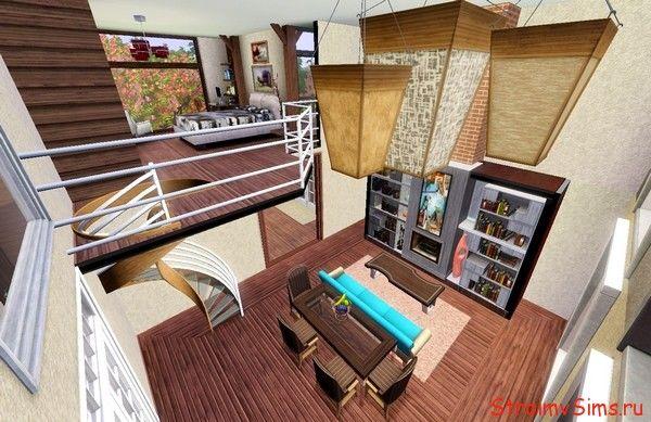 The Sims 3 гостиная с отрытой планировкой