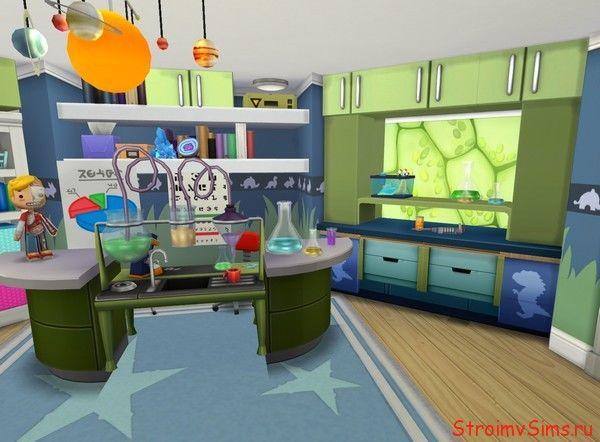 Симс 4: самодельная мебель в комнате Барбоскиных