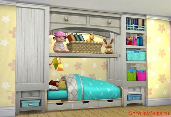Симс 4: самодельная мебель в детской