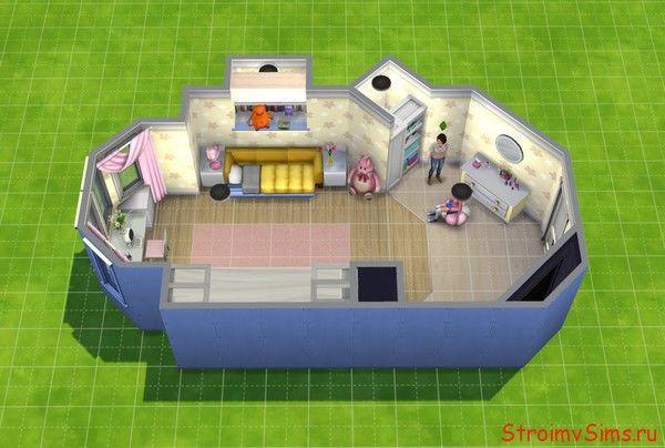 Симс 4: план комнаты Розы и Лизы Барбоскиных