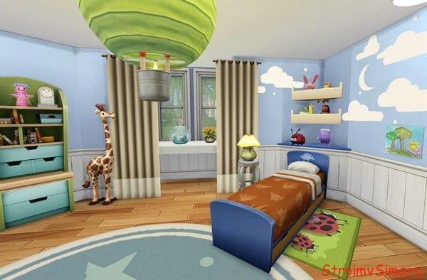 Дизайн детской Малыша Барбоскина в Симс 4