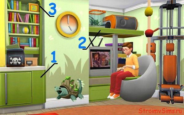 Симс 4 красивая мебель своими руками