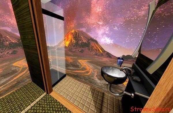 Как в Симс 3 сделать маленькую ванную комнату