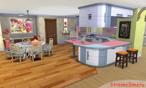 Столовая Барбоскиных в The Sims 4