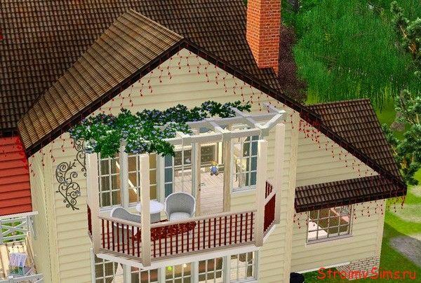 Как украсить балкон в Симс 3