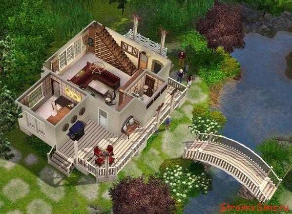 Как перестроить в симс 3 дом Москито