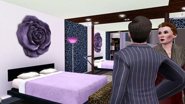 Симс 3: перестроенная спальня стартового дома