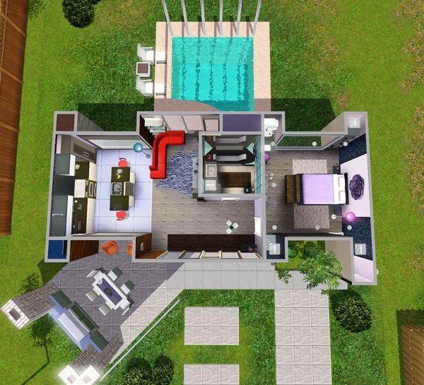 The Sims 3: перестроенный стартовый дом «Префабулос»