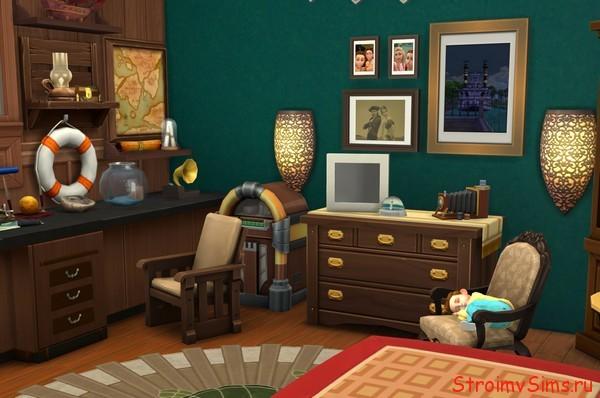 Как украсить комнату путешественника в Симс 4