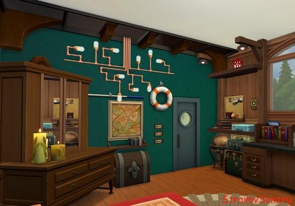 Потолочные балки в комнате дедушки Барбоскина