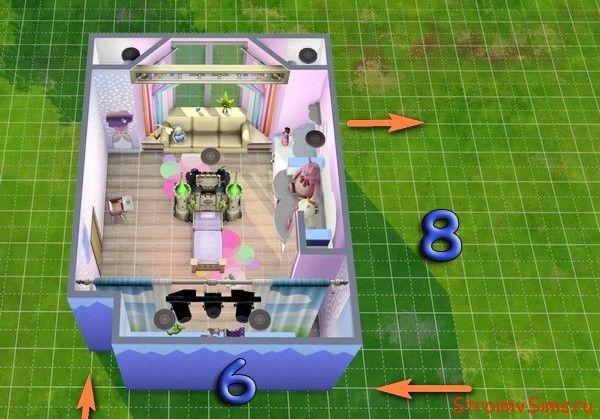 Tje Sims 4: схема детской комнаты для девочки малыша