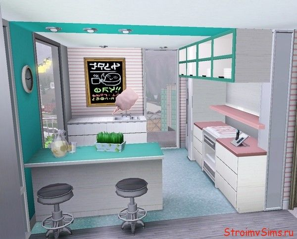 Строим вместе кухню в Симс 3