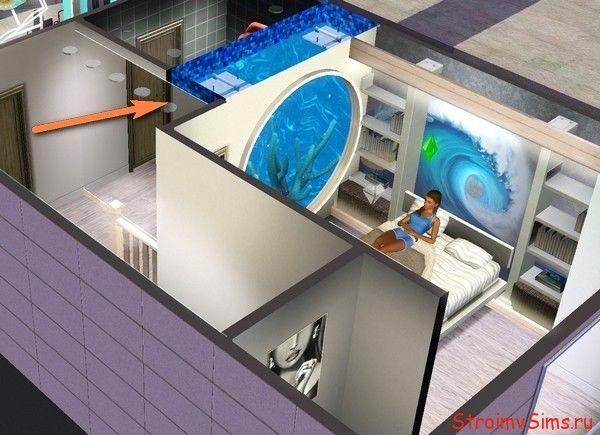 Как встроить бассейн в квартире Симс 3