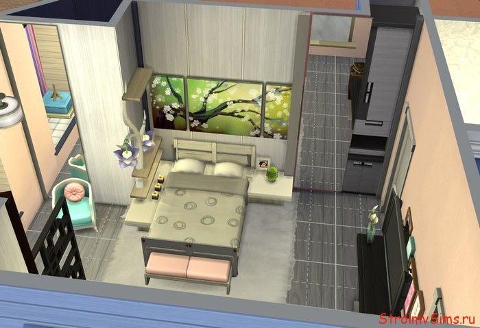 The Sims 4: размещение мебели в спальне родителей Леди Баг