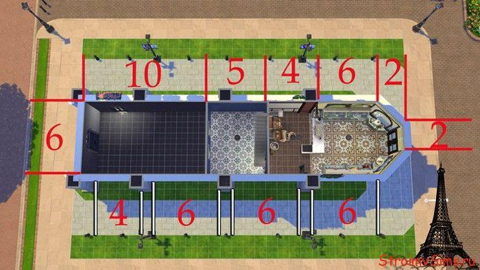Планировка в Симс 4: кондитерская Маринетт