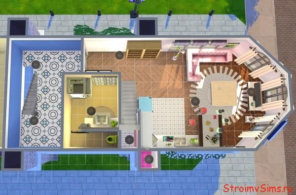 План постройки в Симс 4 3 этажа дома Маринетт