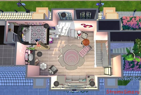 Как сделать комнату Леди Баг в Симс 4