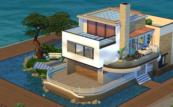 Постройка дома «Морской Лофт» в Симс 4