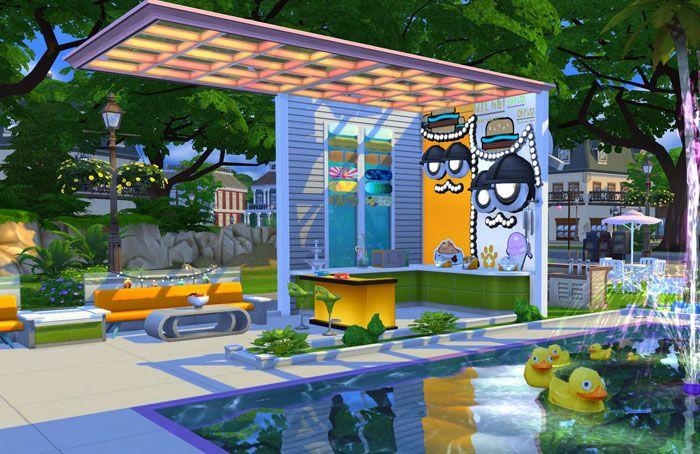 The Sims 4 Площадка перед ветеринарной клиникой