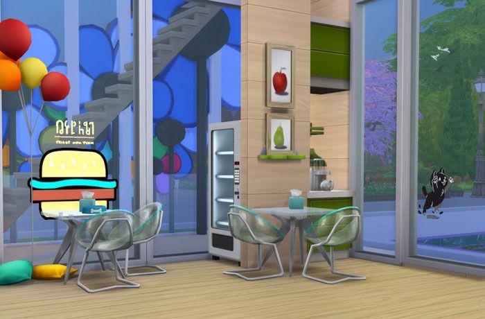 Строим в The Sims 4 уголок отдыха для посетителей ветклиники