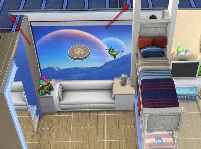 Как сделать двухэтажную кровать в высотке Симс 4