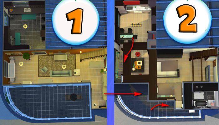 Симс 4: перестроим квартиру