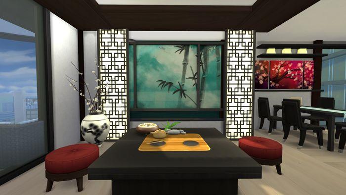 The Sims 4: японская квартира
