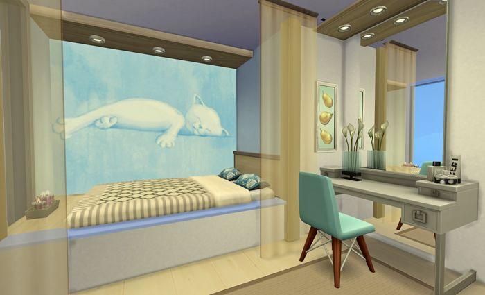 Красивая спальня в The Sims 4